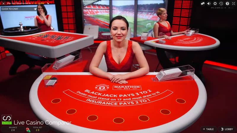 Marathonbet live blackjack