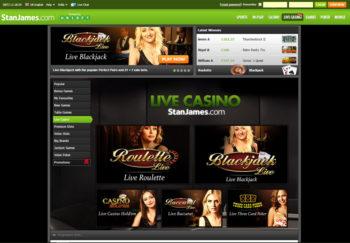 Stan James Live Casino