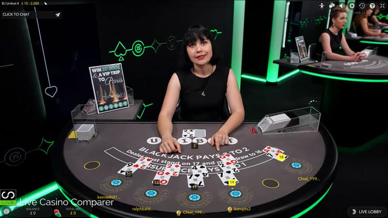 Unibet Dedicated Blackjack