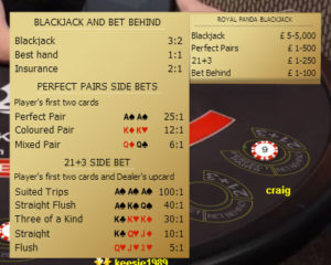 blackjack stakes
