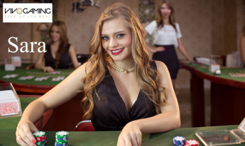 Sara live dealer at Vivo Gaming