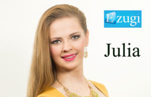 Julia live dealer at Ezugi