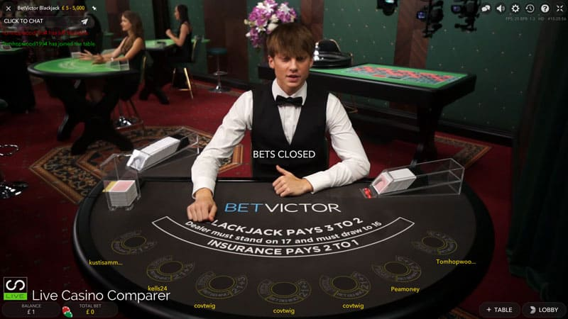 betVictor Dedicated Blackjack Table