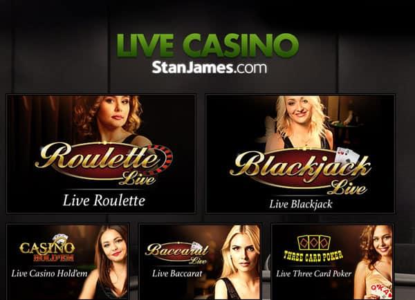 Stan James Evolution Live Casino