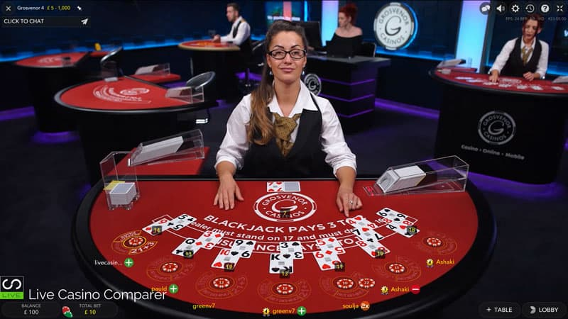 Grosvenor Live Blackjack 2