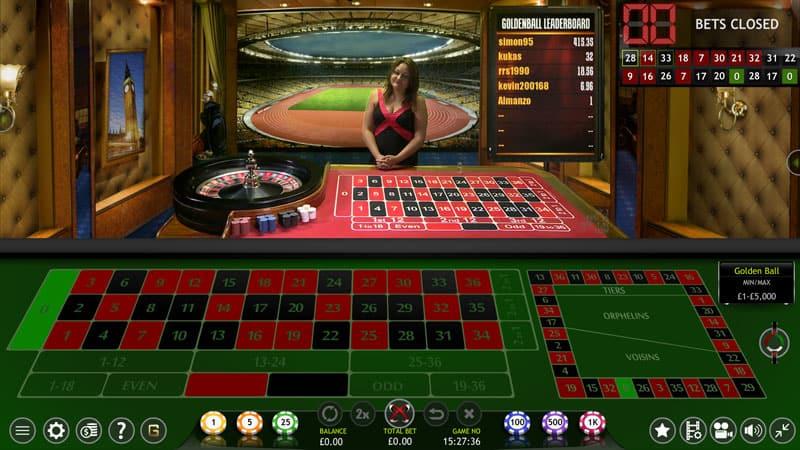 Golden ball roulette table