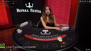 royal panda dedicated live dealer blackjack
