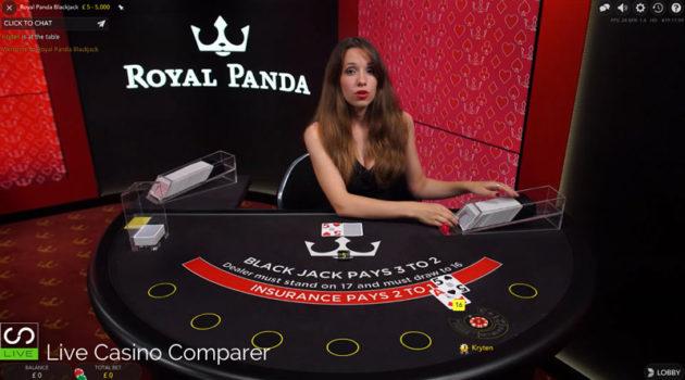 royal panda dedicated live dealer blackjack