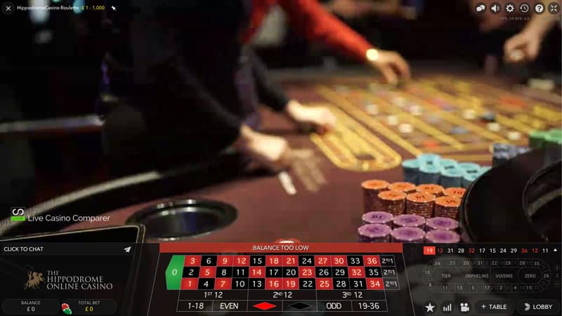 hippodrome live dual play roulette