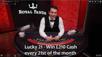 win £210 cash at Royal Panda