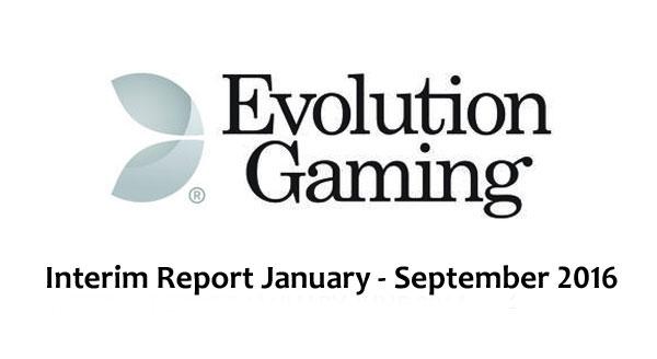 stronge quarter for evolution gaming