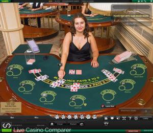 Playtech Live Blackjack - Atlas Table