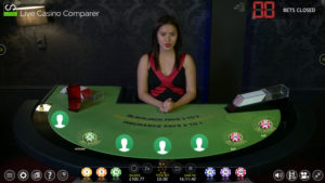 extreme live blackjack - green table