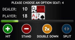 extreme live blackjack - decision box