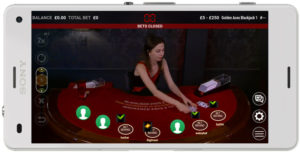 extreme live blackjack - mobile phone