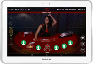 extreme live blackjack Tablet