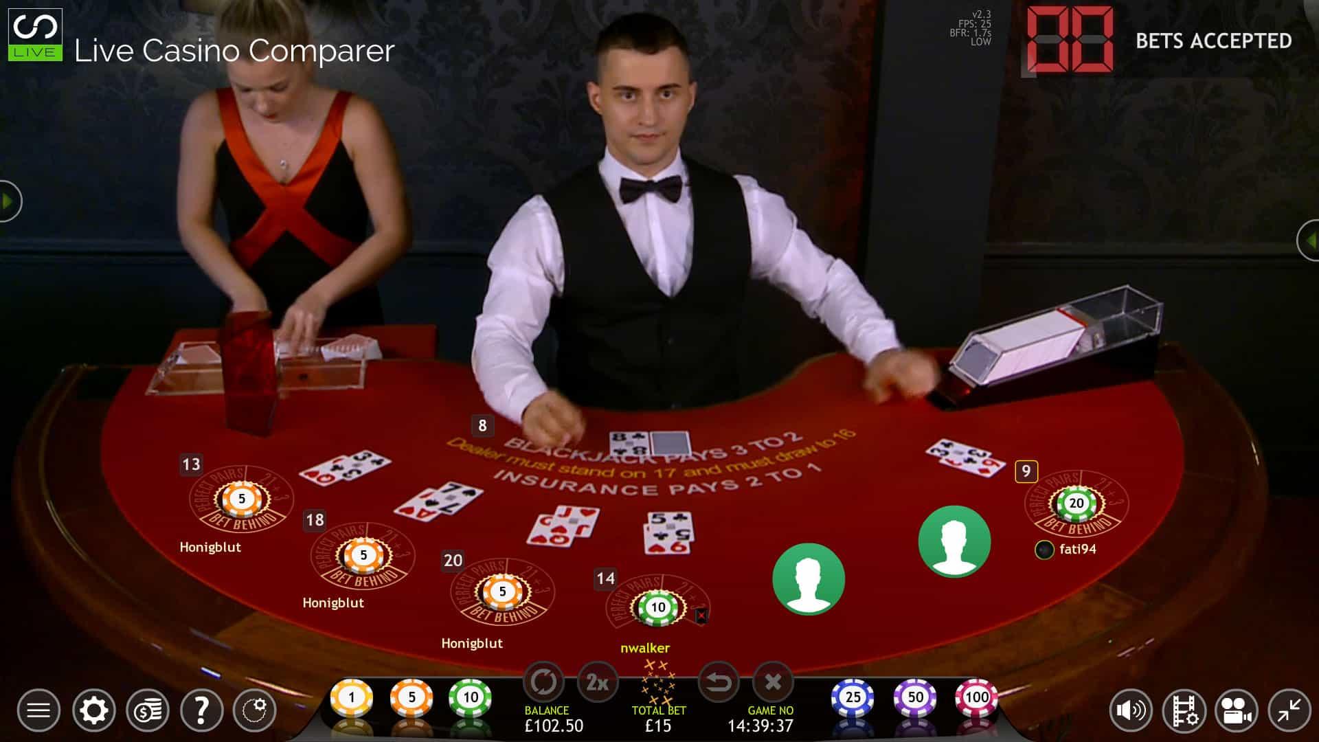 Blackjack table wallpaper - Extreme Live Blackjack Red Table