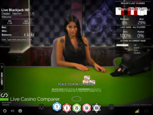 Netent Live Blackjack - Common Draw with Shufflemaster
