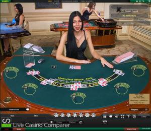 Playtech Live Blackjack - Pegasus Table