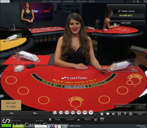 Betfair live dealer blackjack