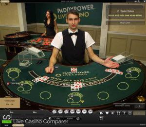 Paddy Power Live Blackjack