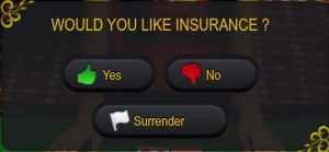 ezugi live blackjack Insurance or Surrender