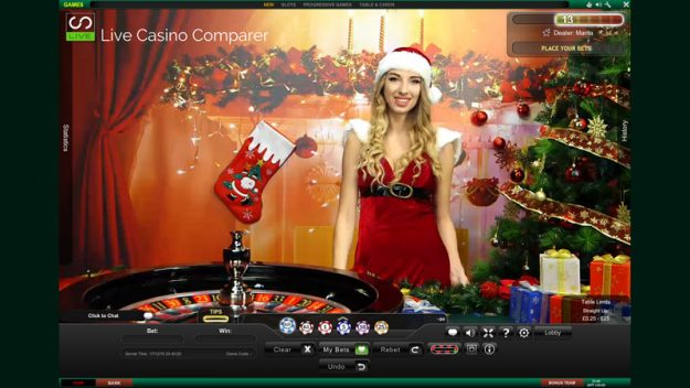 playtech christmas live roulette