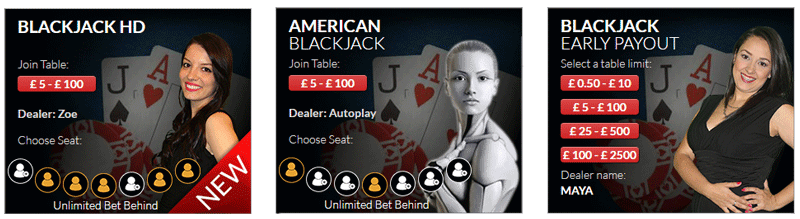 Visionary igaming live blackjack games