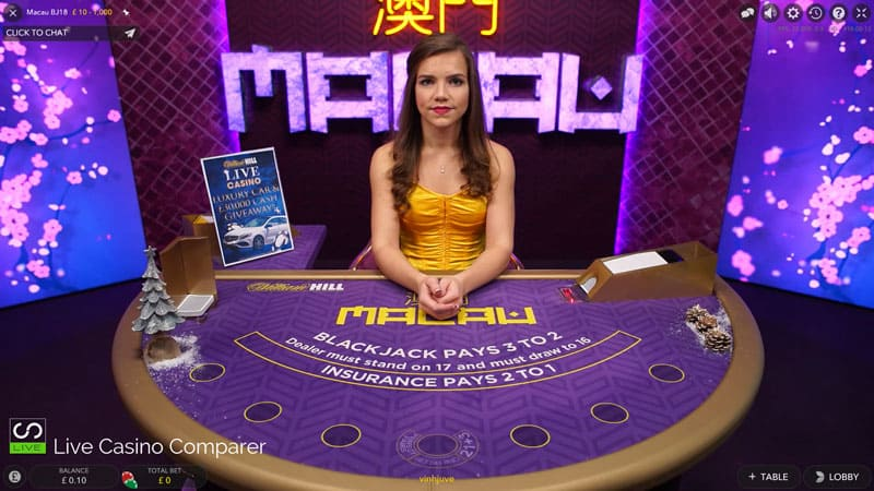 William Hill Macau xmas live dealer