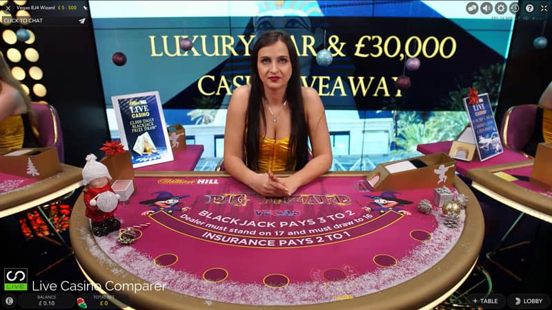 william Hill vegas Xmas Live Dealer