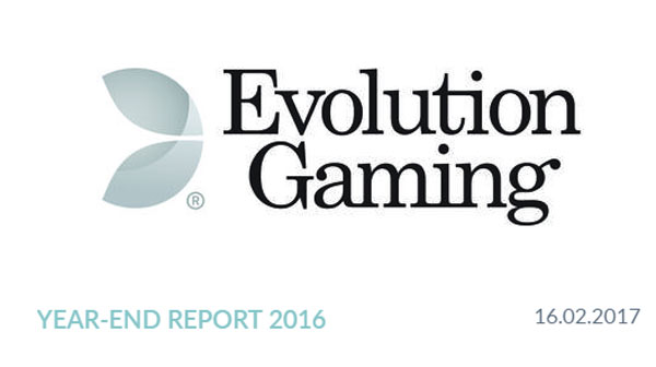 Evolution End of year report 2016