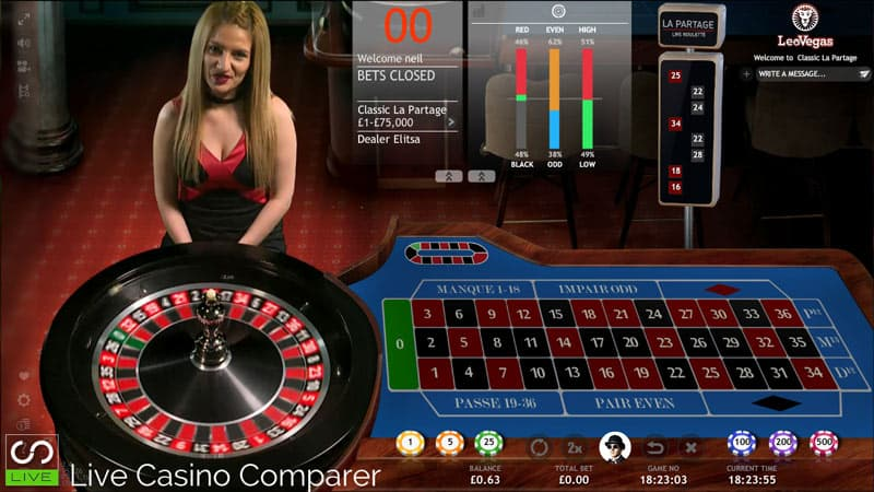 extreme live gaming french roulette with la partage