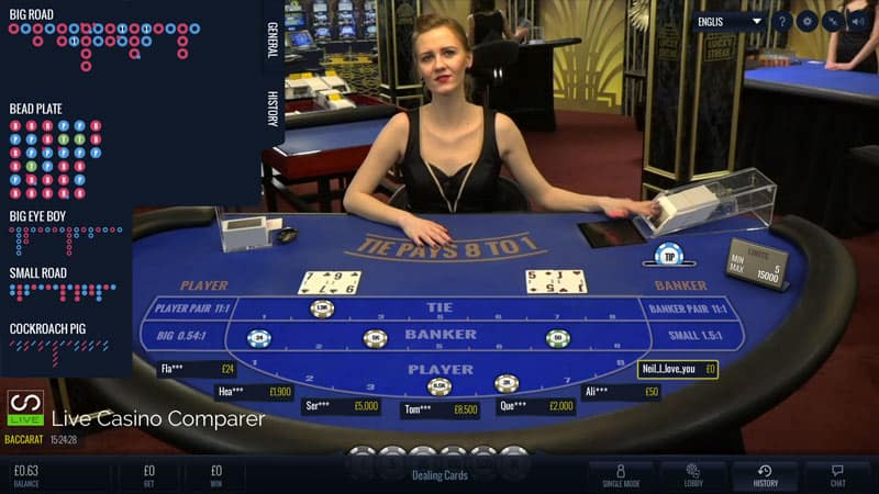 Luckystreak Live Baccarat