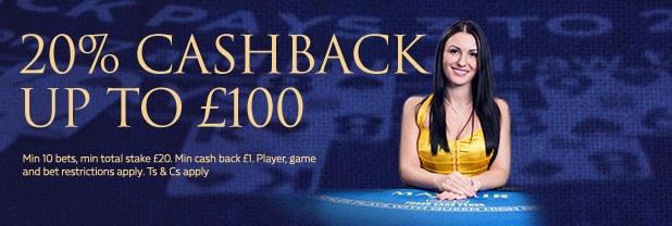 20% Cashback