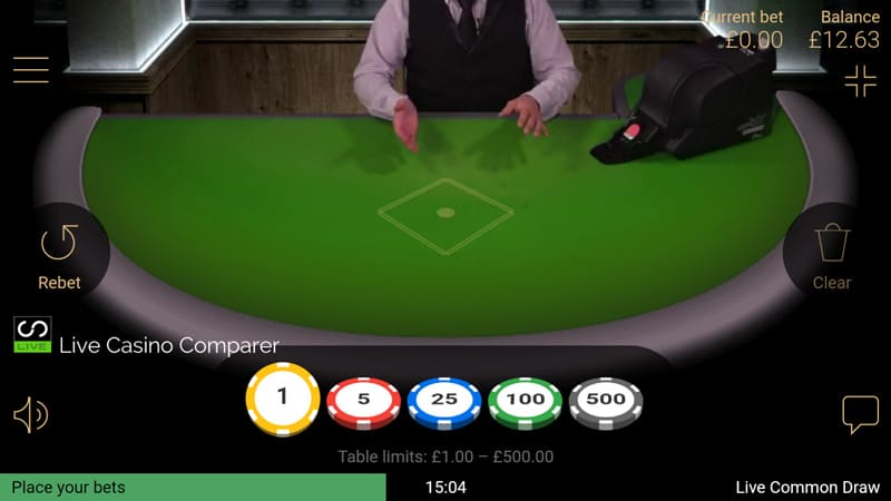 netent mobile live blackjack - landscape closeup