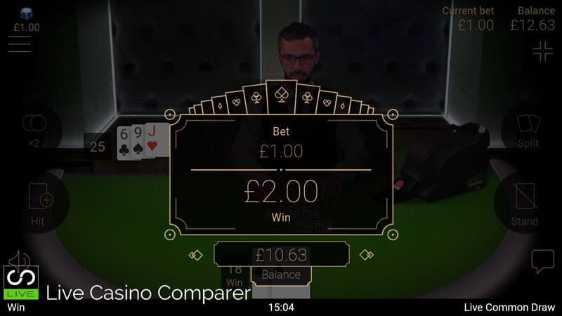 netent mobile live blackjack - lwin screen