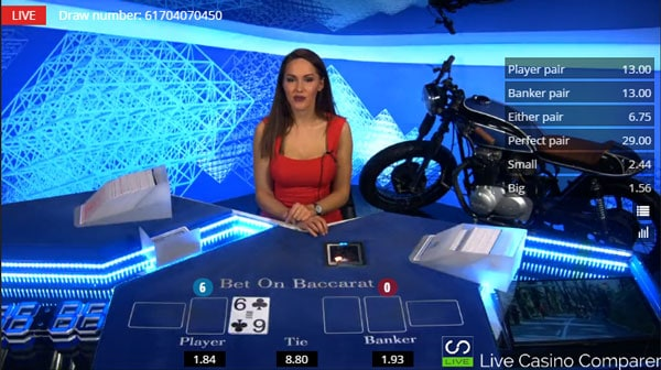 betgames bet on baccarat - first card