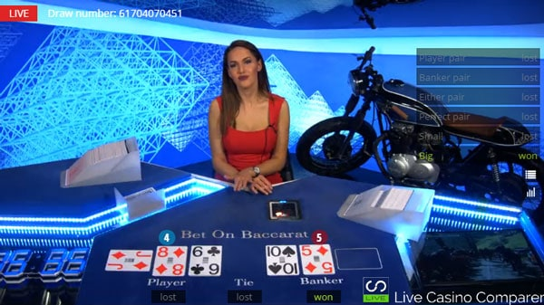 betgames bet on baccarat - last card