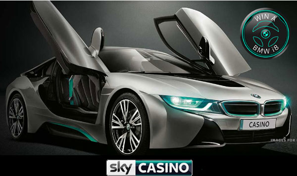 win a bmw i8 at sky casino
