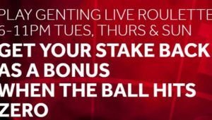 genting live roulette insurance
