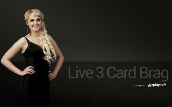 3 card brag live casino