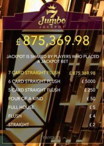 live casino holdem progressive jackpot