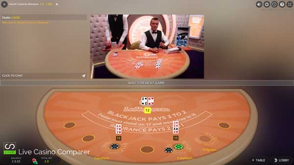 dansk celebrity blackjack mixed mode