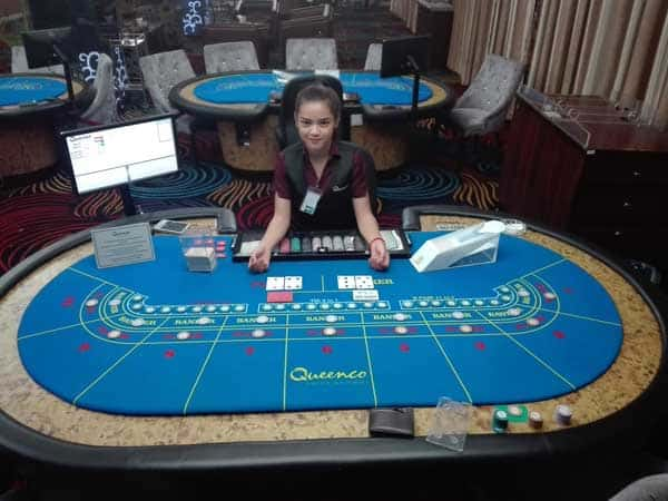OTT Baccarat Table with a dealer