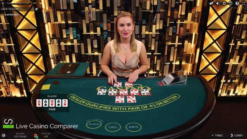 Evolution Live Casino Holdem Desktop
