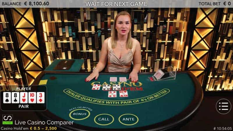 Live Casino Holdem on Smartphone