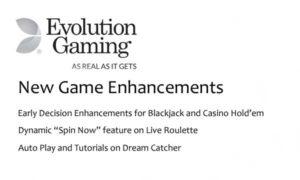 evolution adds speed enhancements