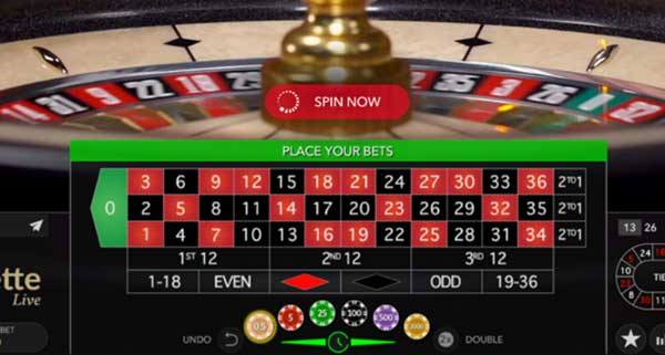 Spin Now on Live Roulette