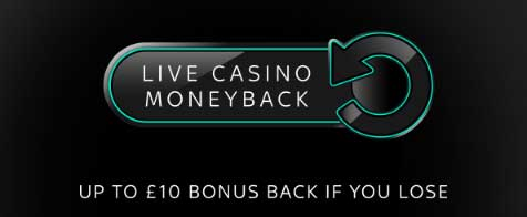 August Sky Live Casino Promotions - Moneyback