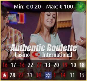 Authentic Casino INternational Roulette
